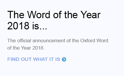 Oxford Word of the Year 2018