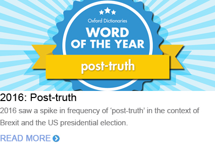 Word of the Year 2016 Post-truth